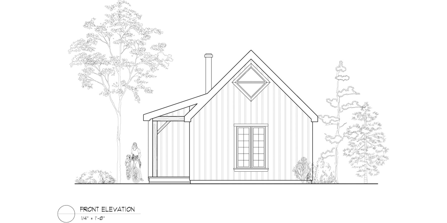 Normerica Timber Frame, House Plan, The Retreat 3143, Front Elevation