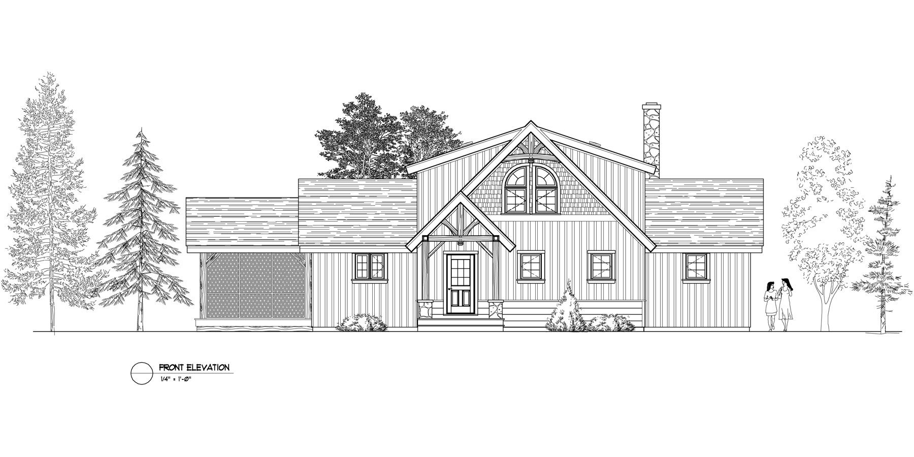 Normerica Timber Frames, House Plan, The Carleton 3115, Front Elevation