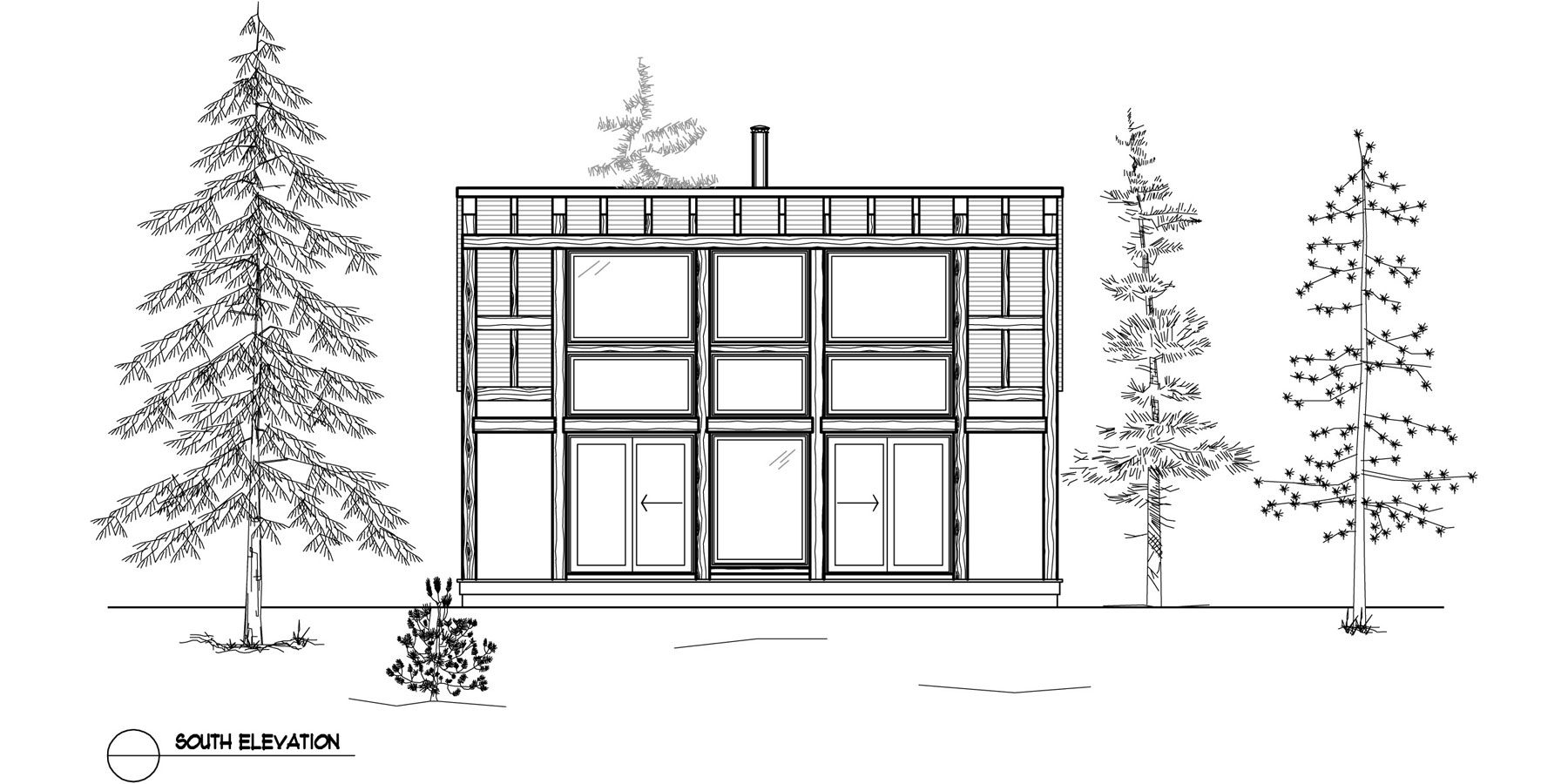Normerica Timber Frames, House Plan, The Davidson 3872, Front Elevation