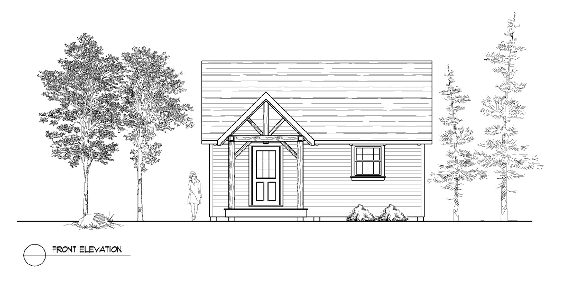 Normerica Timber Frames, House Plan, The Dillon 2254, Front Elevation