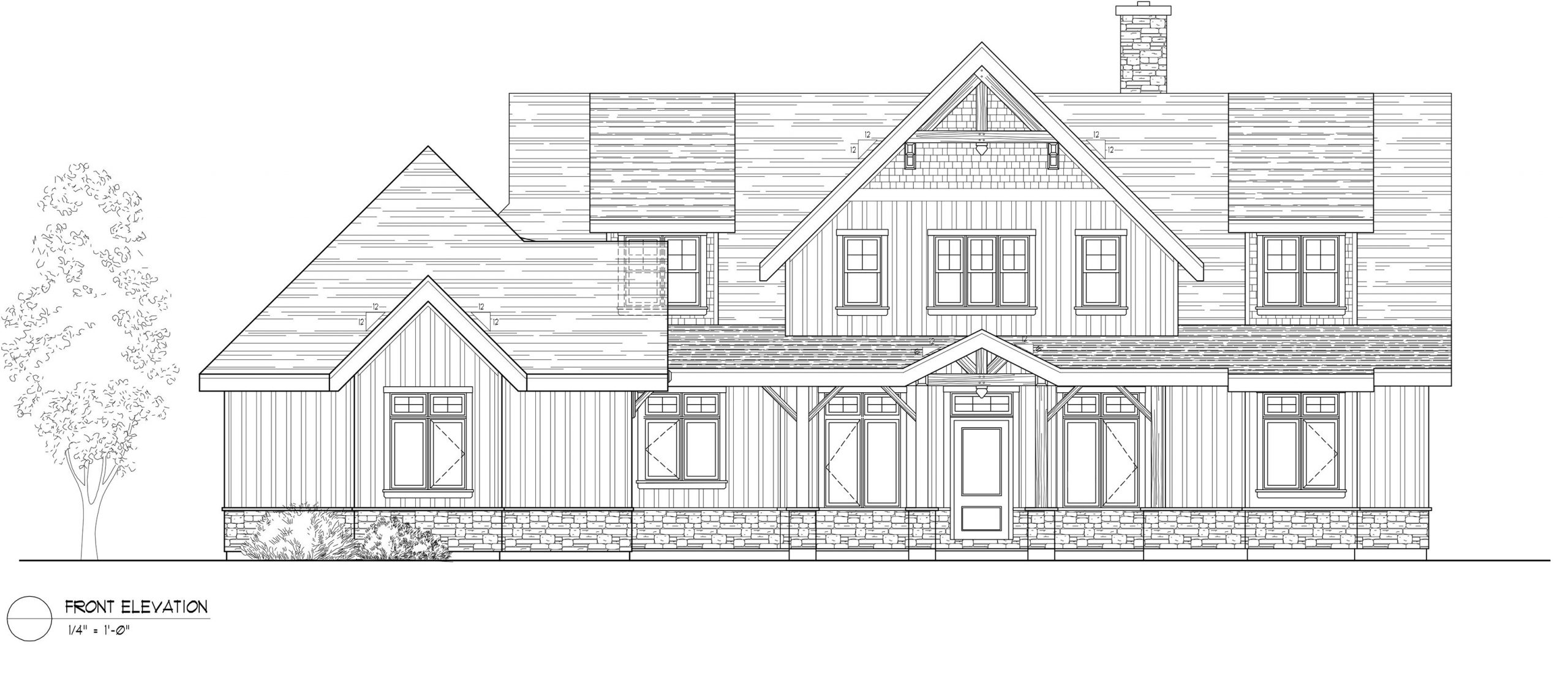 Normerica Timber Frames, House Plan, The Dufferin 2822, Front Elevation
