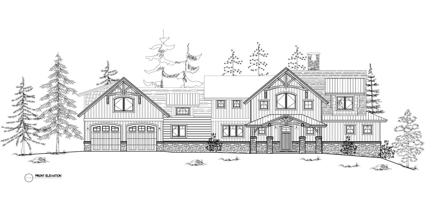 Normerica Timber Frames, House Plan, The Dufferin 3512, Front Elevation