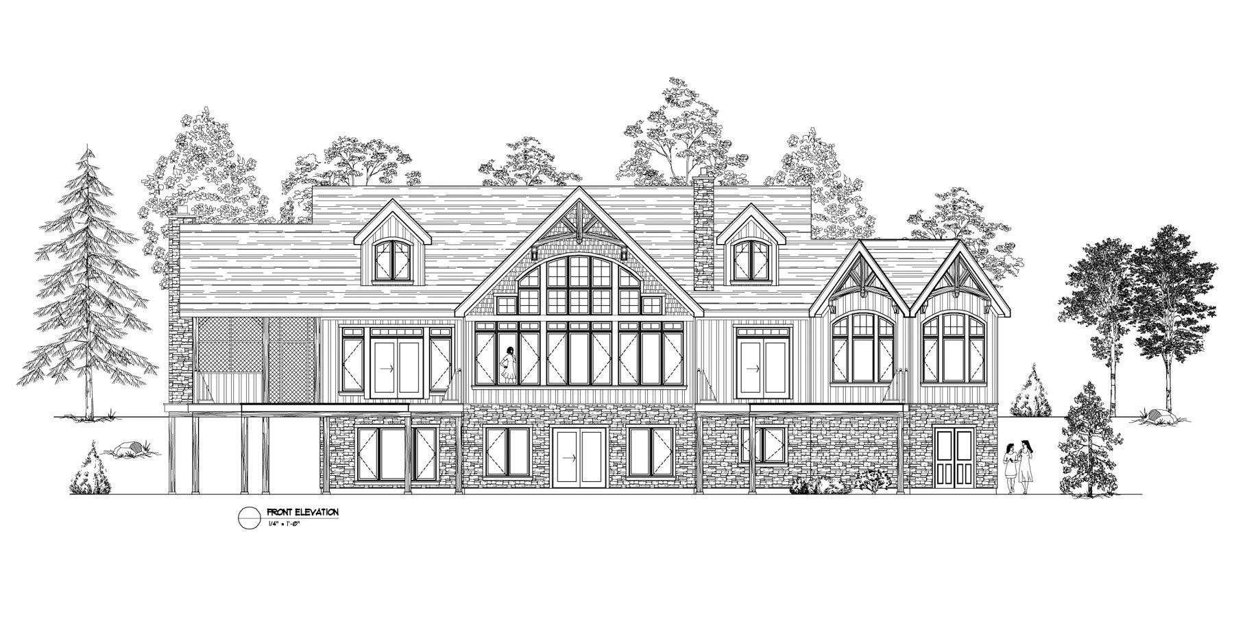 Normerica Timber Frames, House Plan, The Fremont 3582, Front Elevation