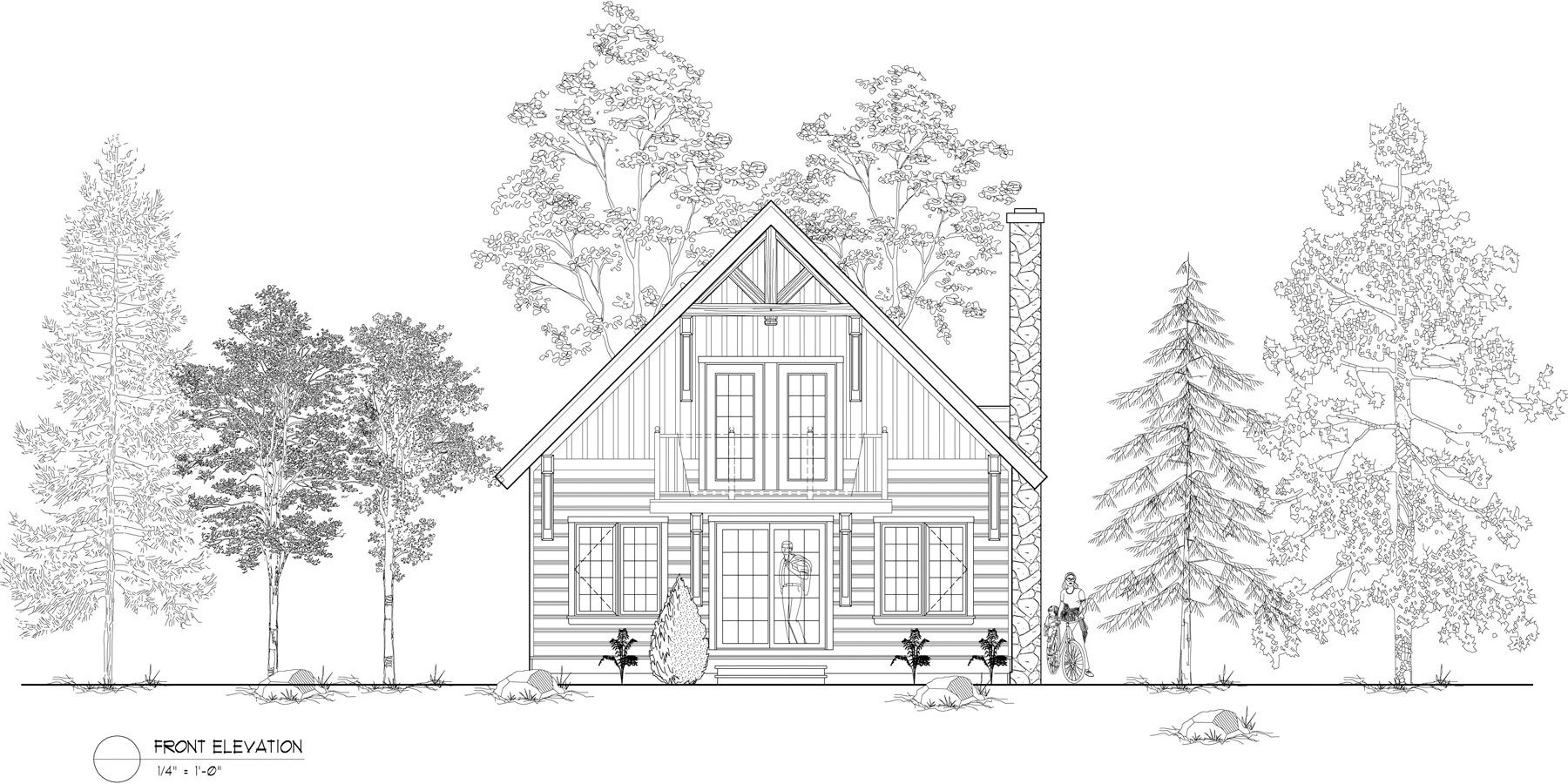 Normerica Timber Frames, House Plan, The Jackson 3605, Front Elevation