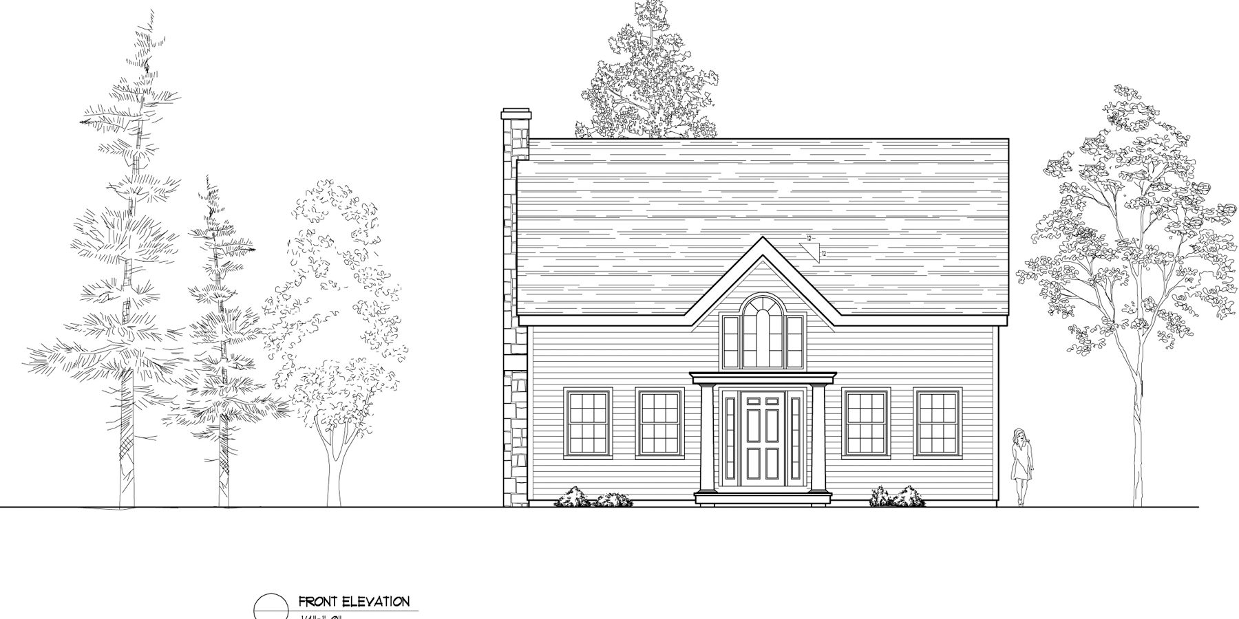 Normerica Timber Frames, House Plan, The Niagara 3539, Front Elevation