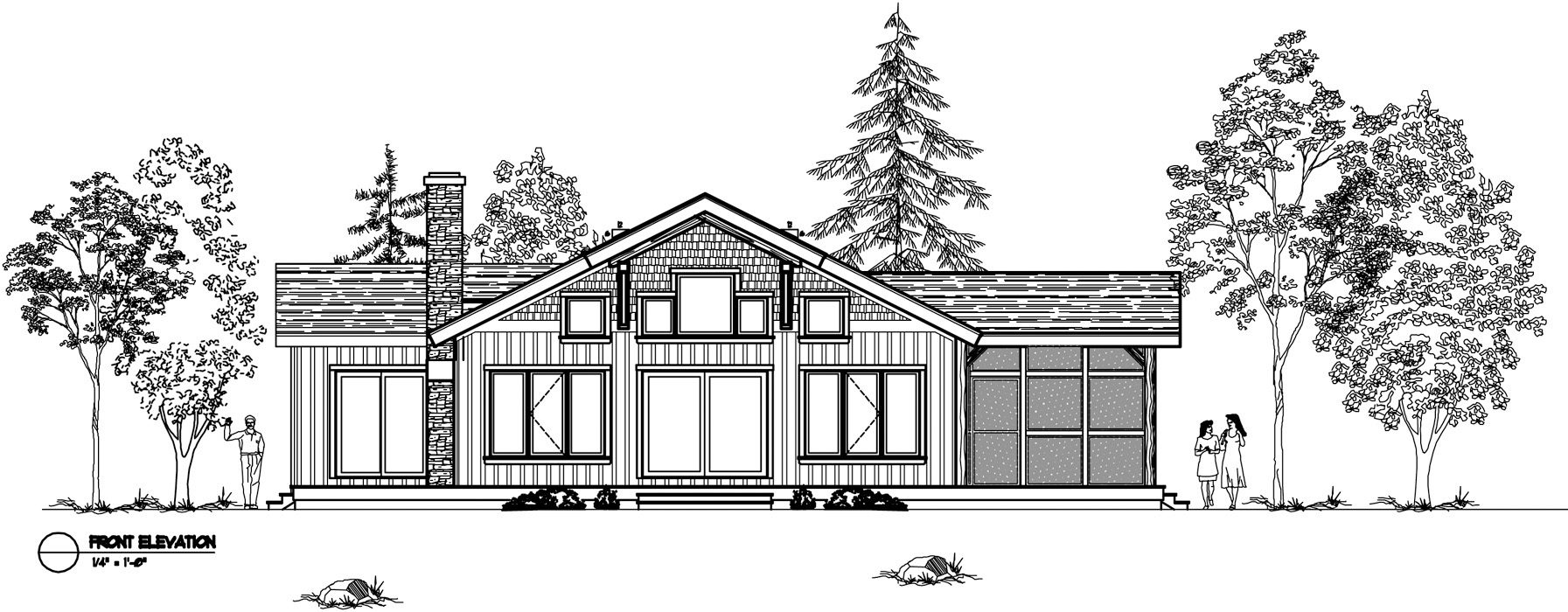 Normerica Timber Frames, House Plan, The Nipissing 3542, Front Elevation