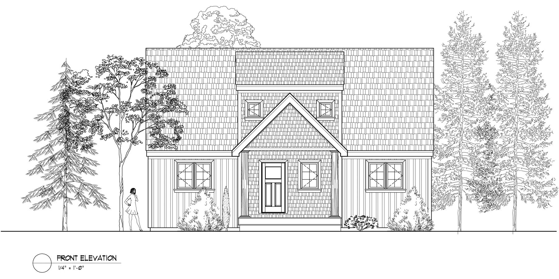 Normerica Timber Frames, House Plan, The Routt 3419, Front Elevation