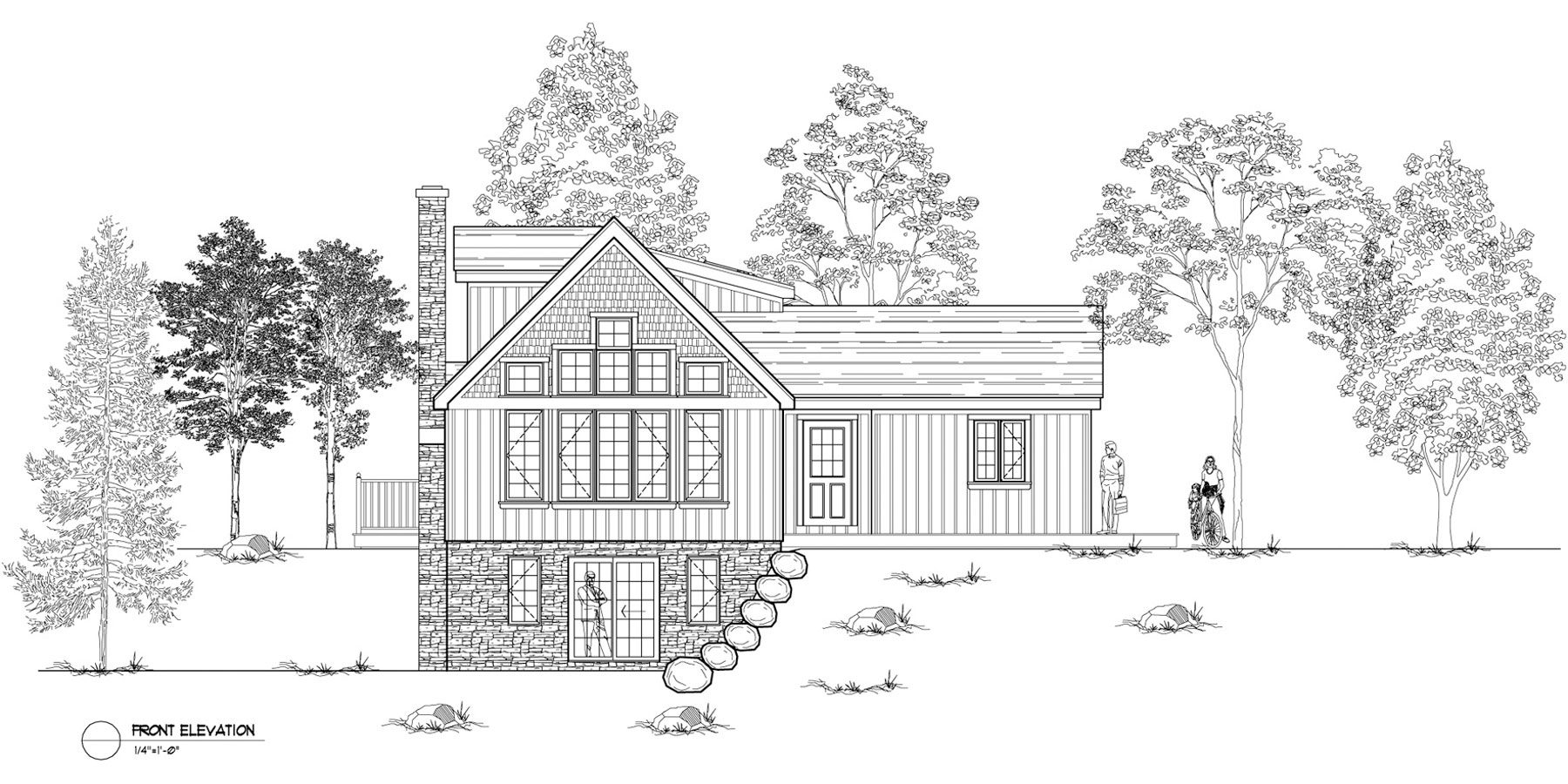 Normerica Timber Frames, House Plan, The Simcoe 3239, Front Elevation