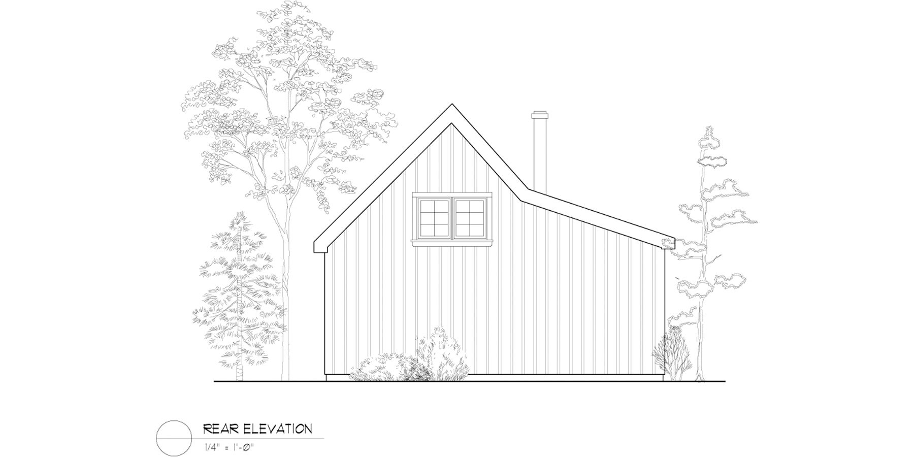 Normerica Timber Frame, House Plan, The Retreat 3143, Rear Elevation