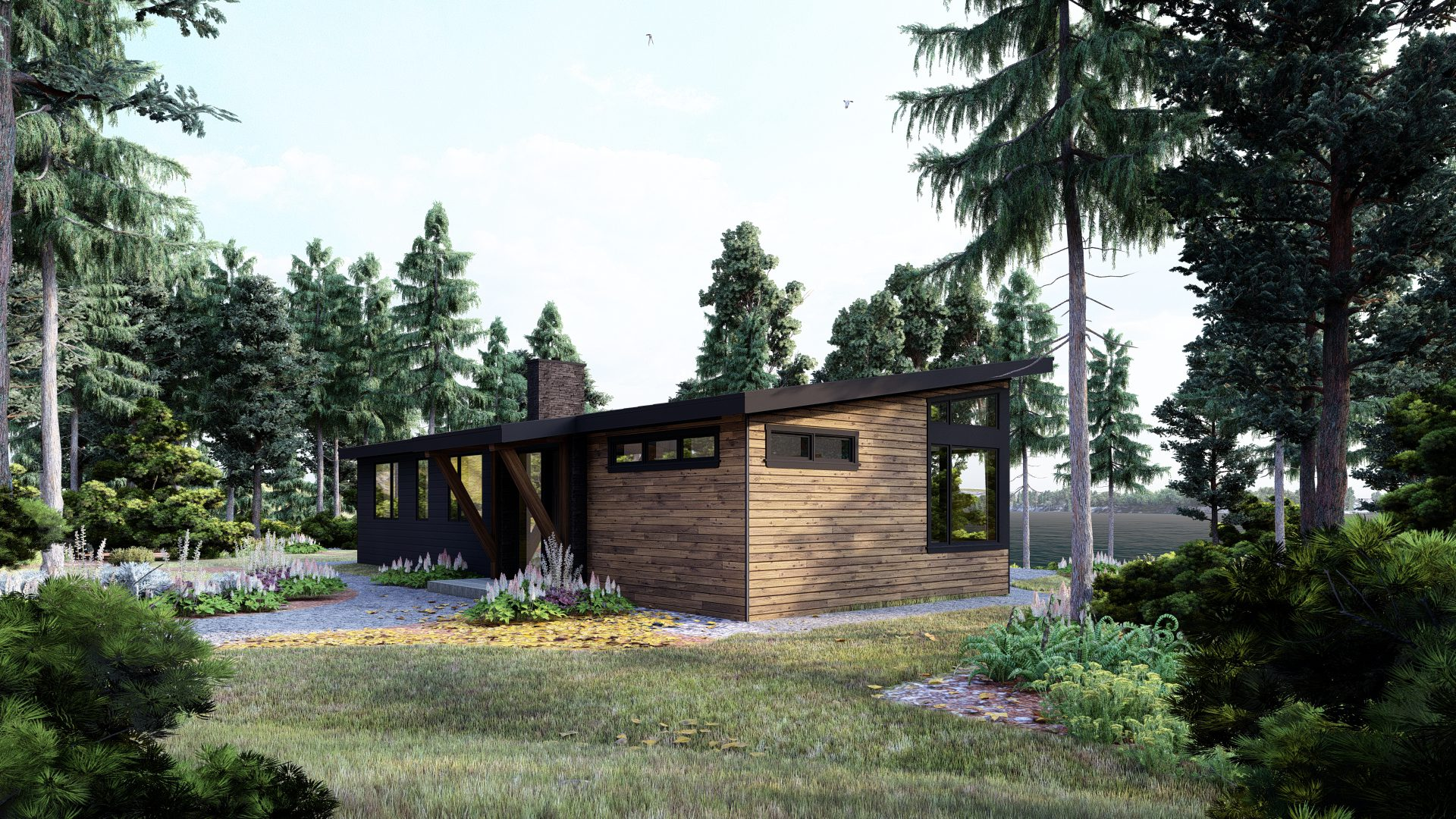 Normerica Timber Frames, House Plan, The Bayfield 3945, Exterior, Front