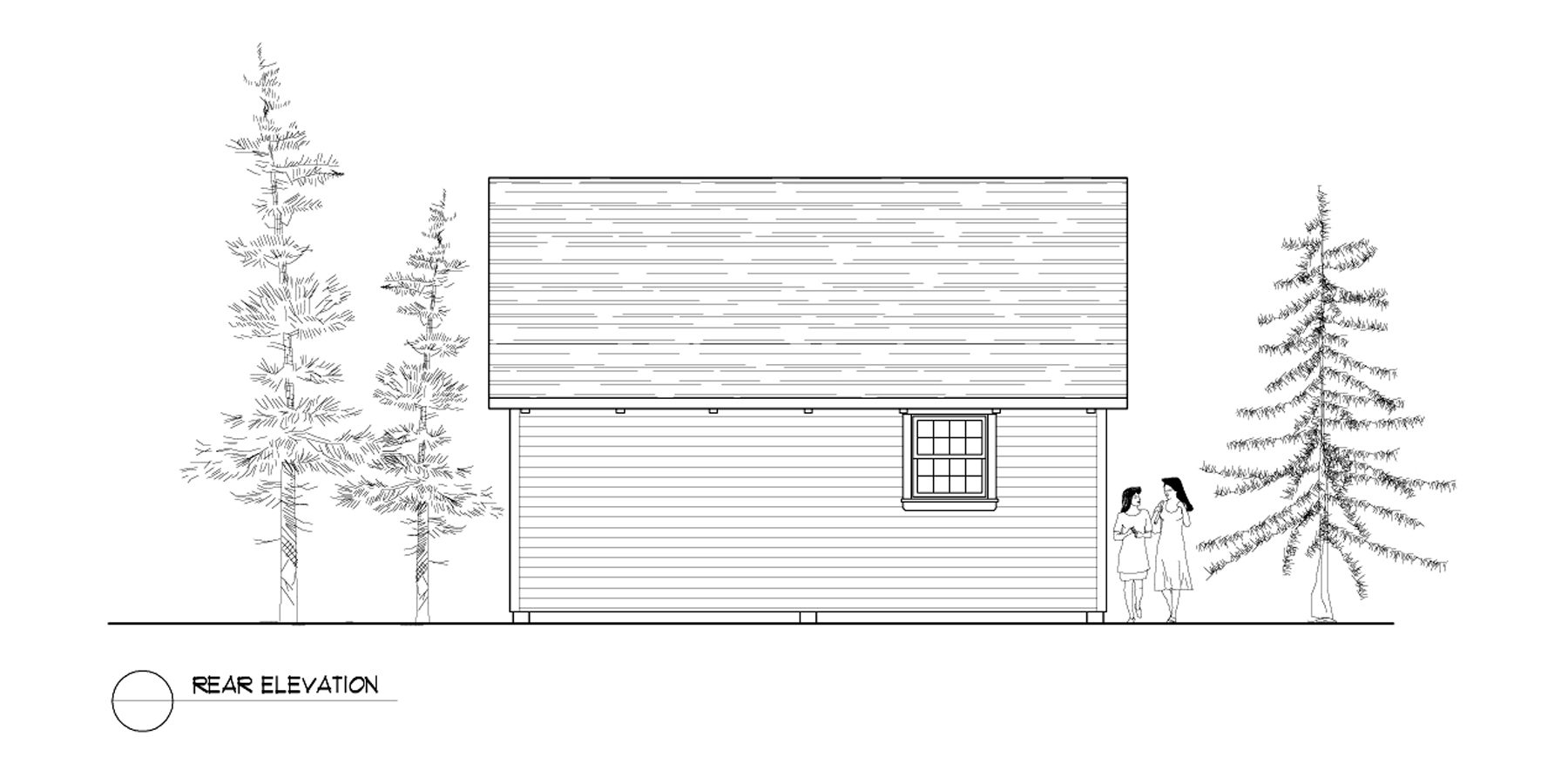 Normerica Timber Frames, House Plan, The Dillon 2254, Rear Elevation