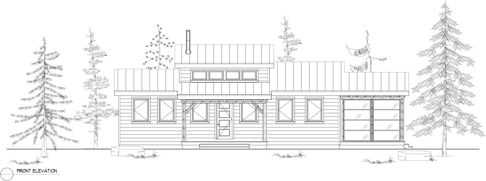 Normerica Timber Frames, House Plan, The Kershaw 3808, Front Elevation