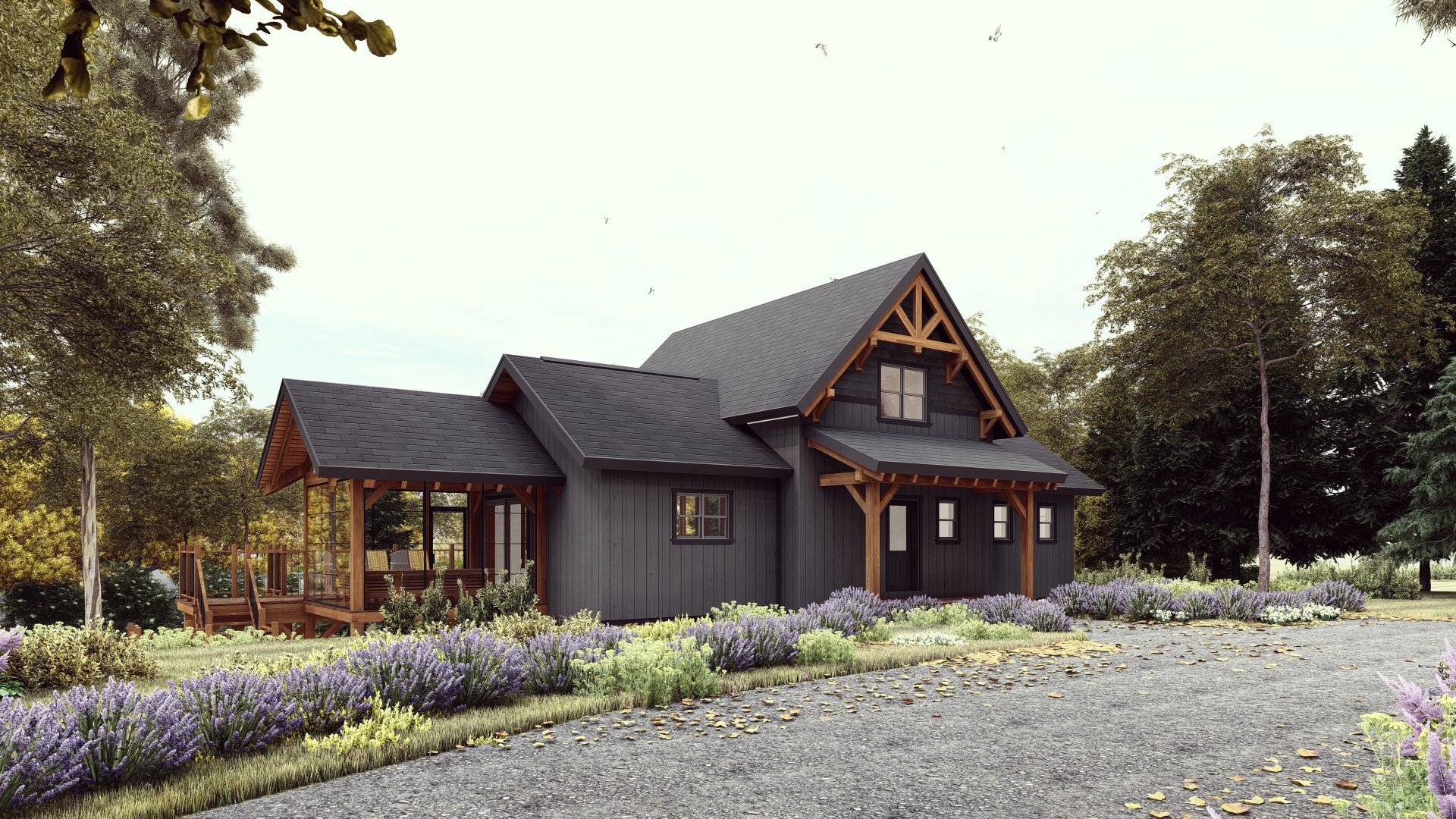 Normerica Timber Frames, House Plans, The Tobermory 3949, Exterior, Front