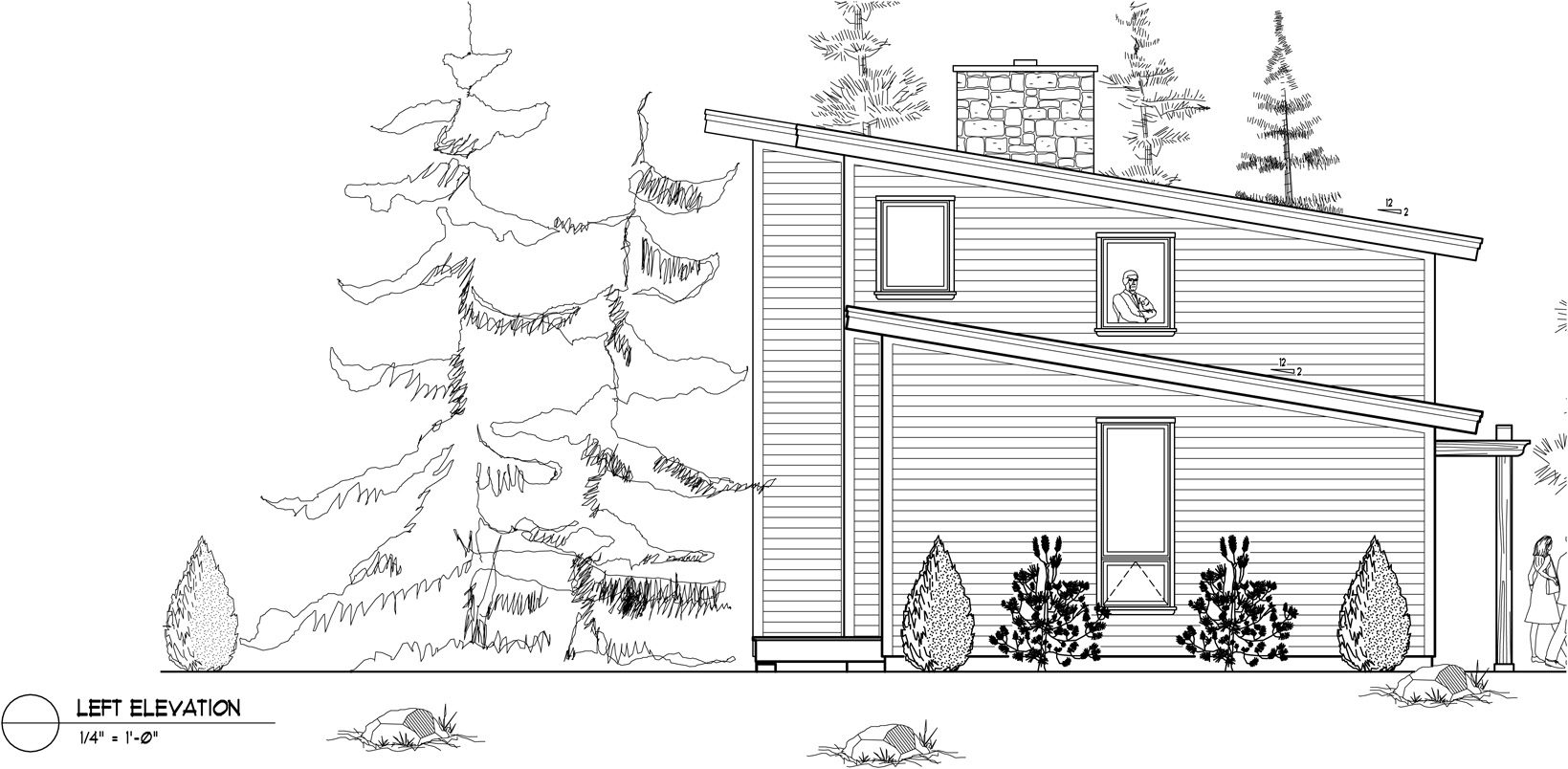 Normerica Timber Frame, House Plan, The Kershaw 3586, Left Elevation