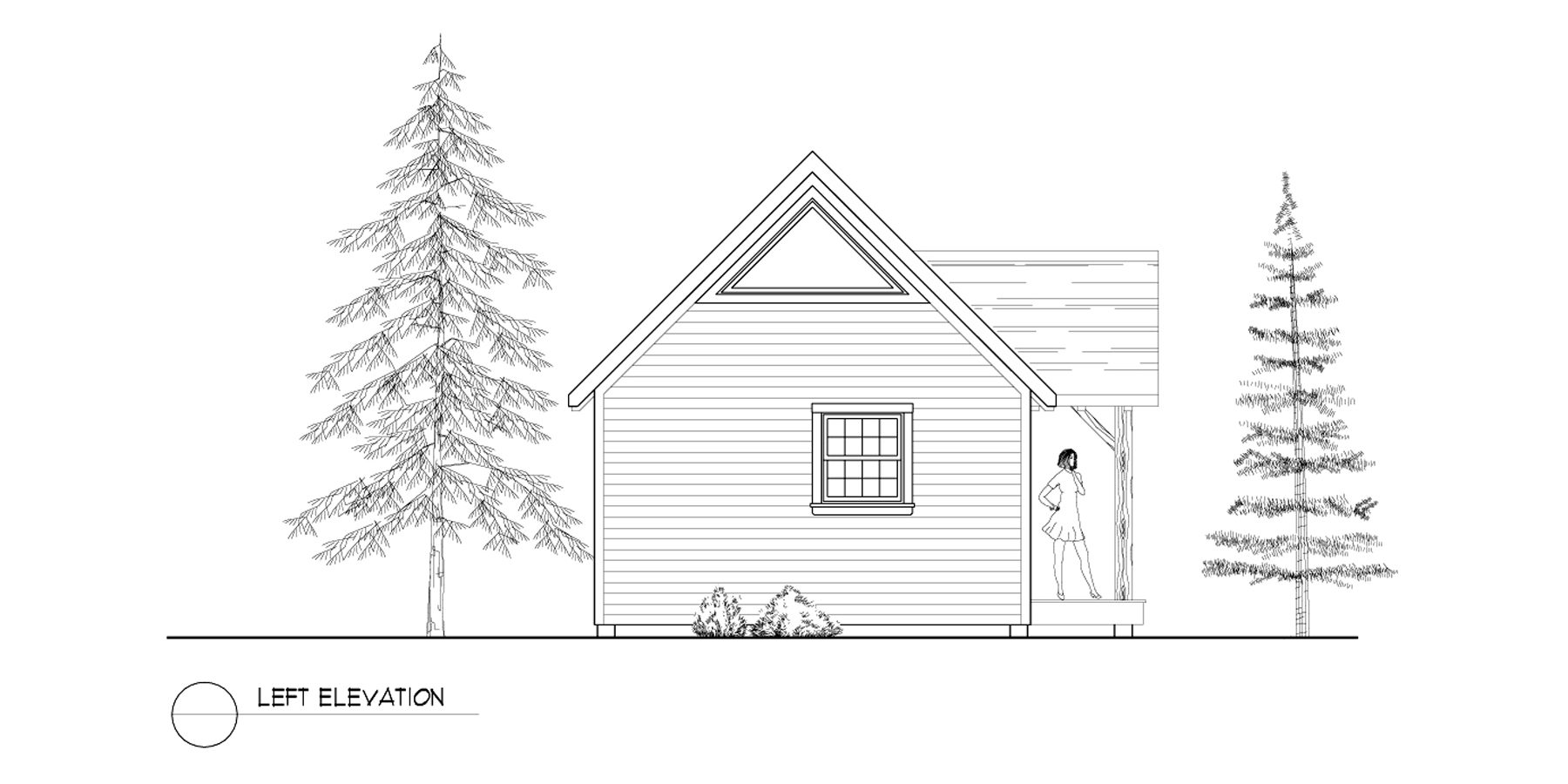 Normerica Timber Frames, House Plan, The Dillon 2254, Left Elevation