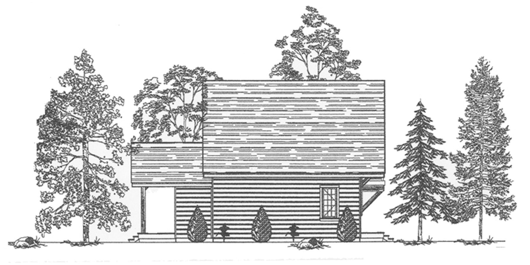 Normerica Timber Frames, House Plan, The Jackson 3605, Left Elevation