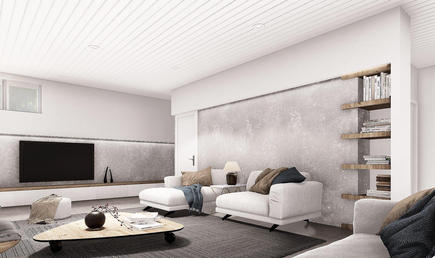 Normerica Timber Frames, House Plan, The Laurentian, Interior, Basement 2