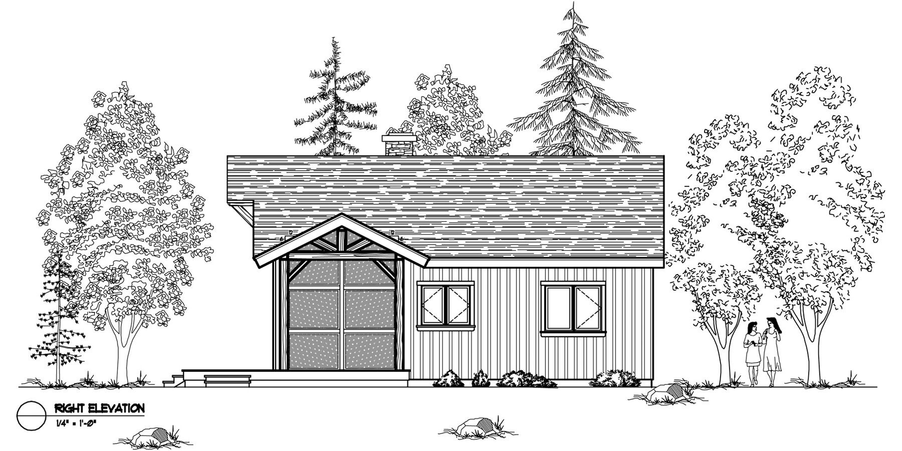 Normerica Timber Frames, House Plan, The Nipissing 3542, Right Elevation