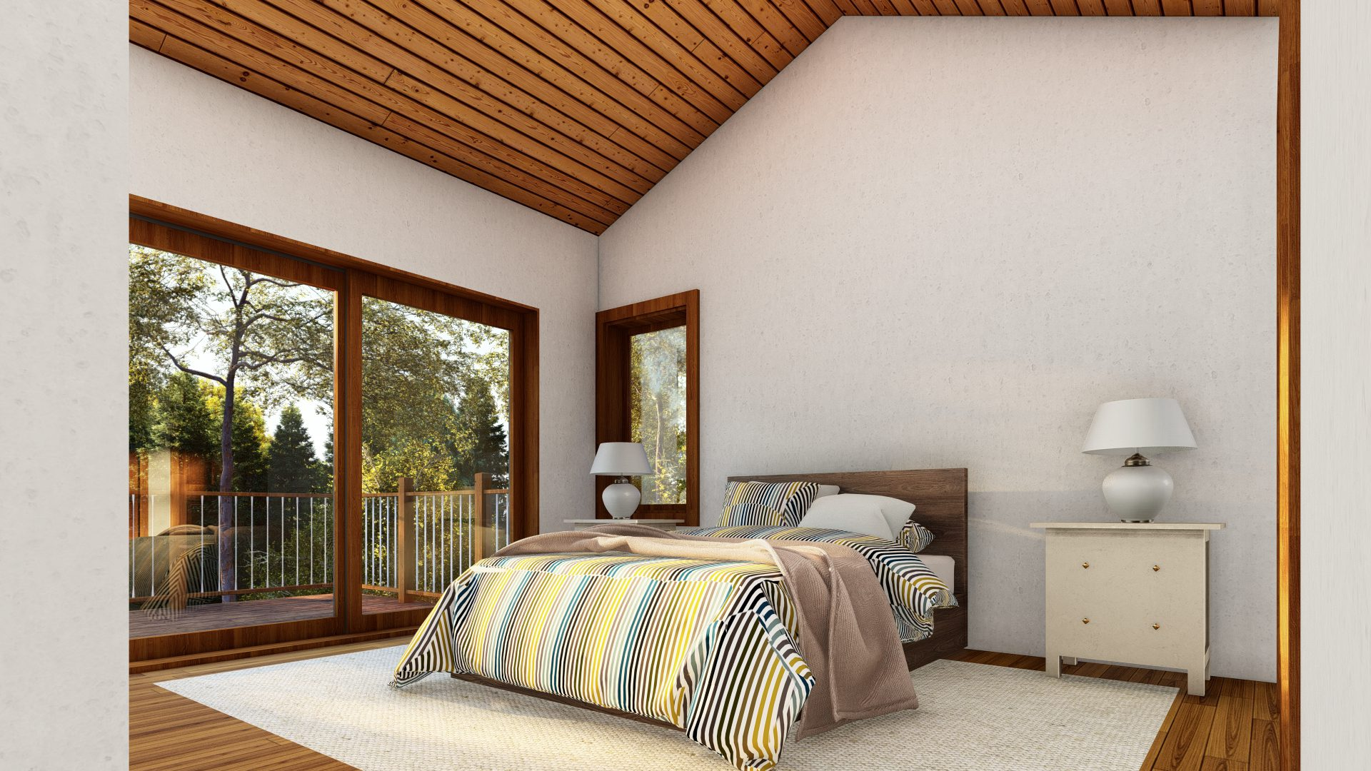 Normerica Timber Frames, House Plans, The Tobermory 3949, Interior, Bedroom 1
