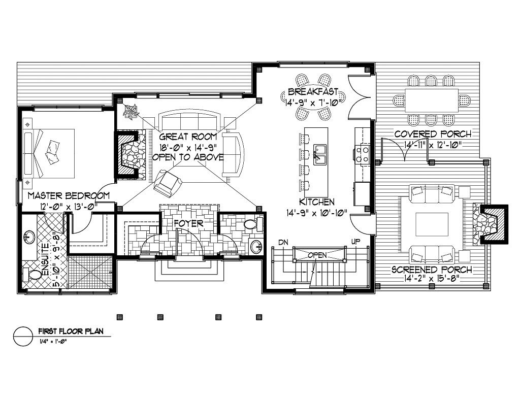 Normerica Timber Frame, House Plan, The Kershaw 3586, First Floor Layout