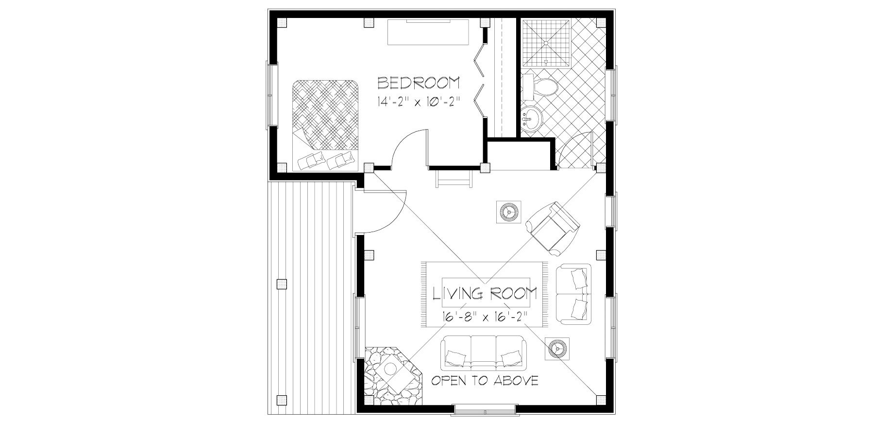 Normerica Timber Frame, House Plan, The Retreat 3143, First Floor Layout
