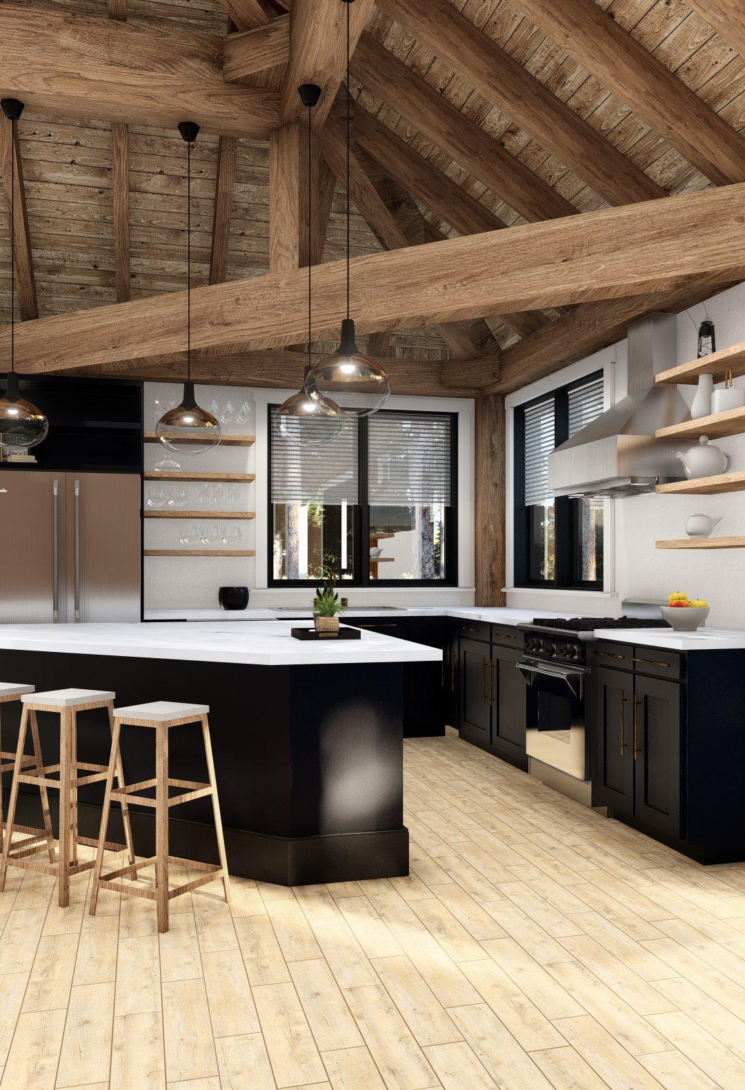 Normerica Timber Frames, House Plan, The Britt 3954, Interior, Kitchen