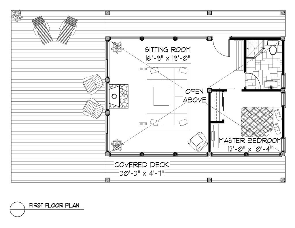 Normerica Timber Frames, House Plan, The Davidson 3872, Cabin Layout