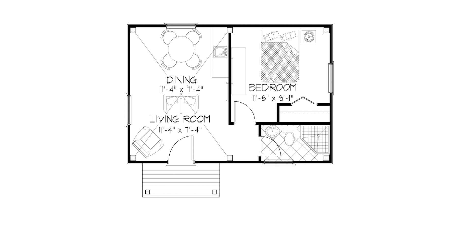 Normerica Timber Frames, House Plan, The Dillon 2254, First Floor Layout