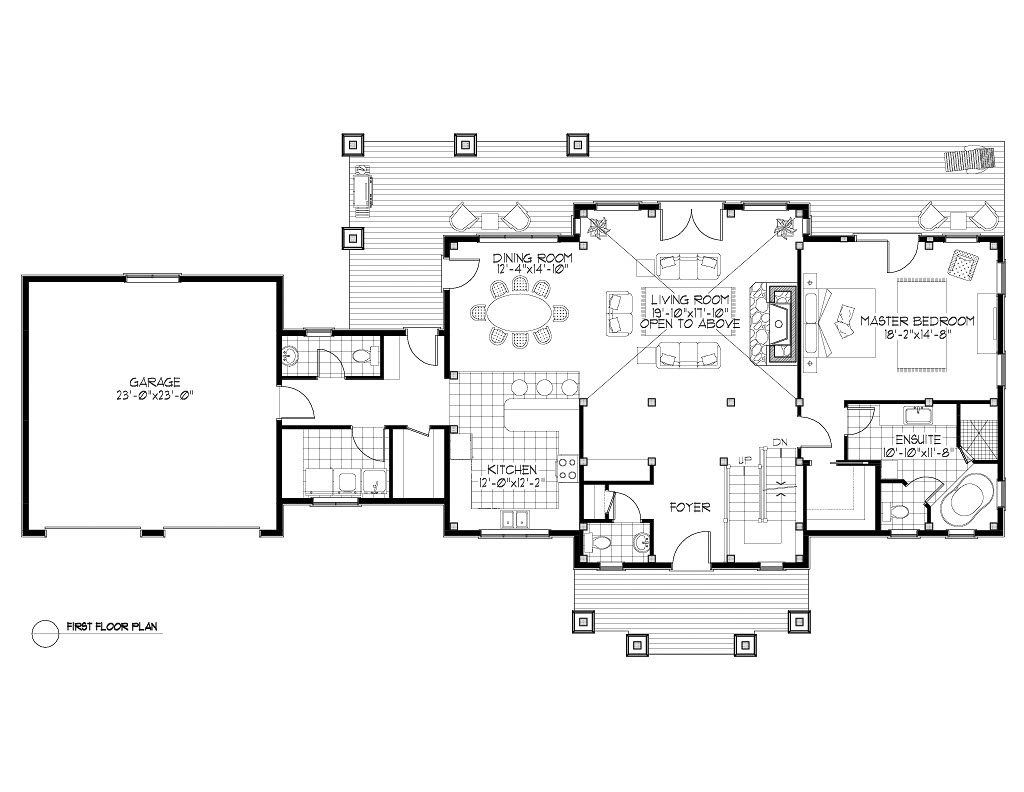 Normerica Timber Frames, House Plan, The Dufferin 3512, First Floor Layout