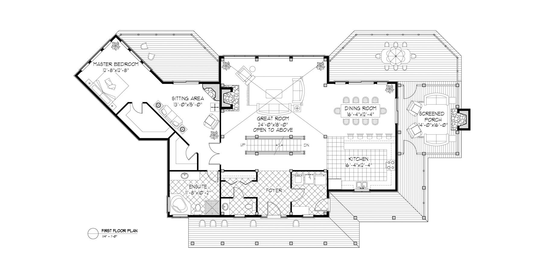 Normerica Timber Frames, House Plan, The Fremont 3582, First Floor Layout