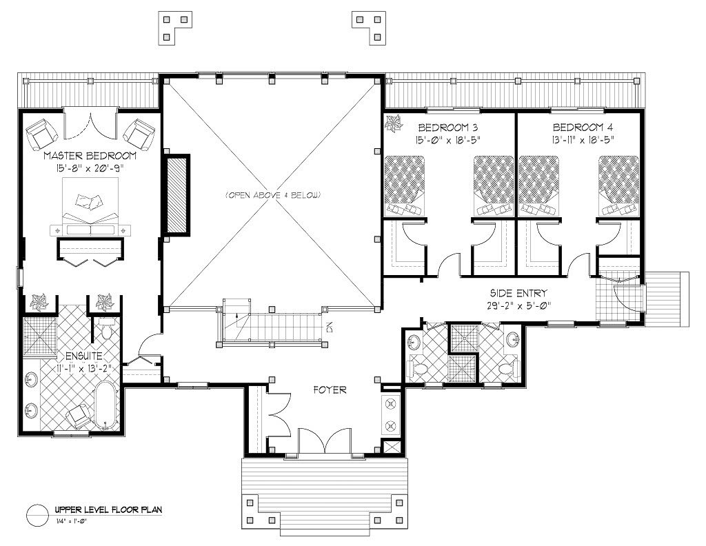 Normerica Timber Frames, House Plan, The Highrock 3579, First Floor Layout