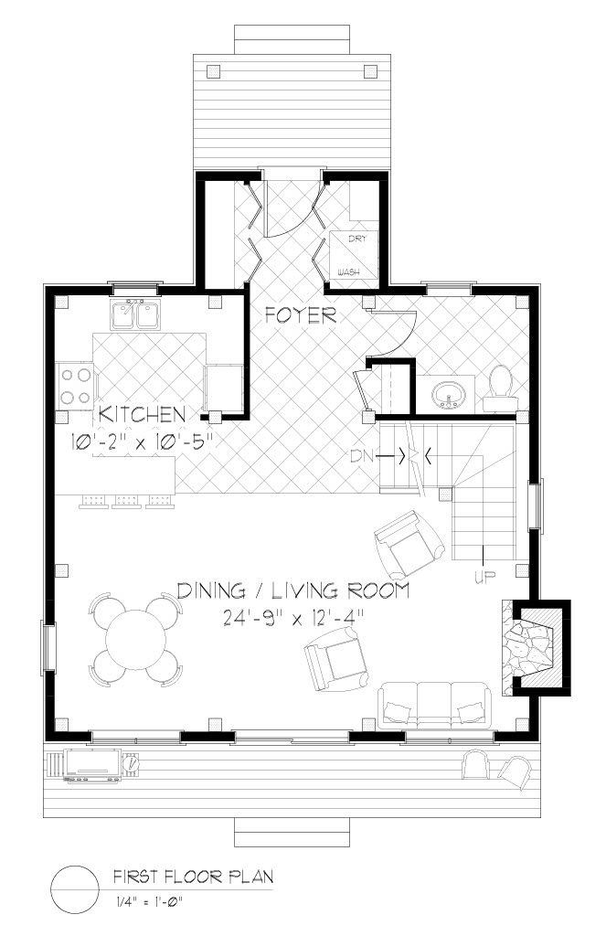 Normerica Timber Frames, House Plan, The Jackson 3605, First Floor Layout