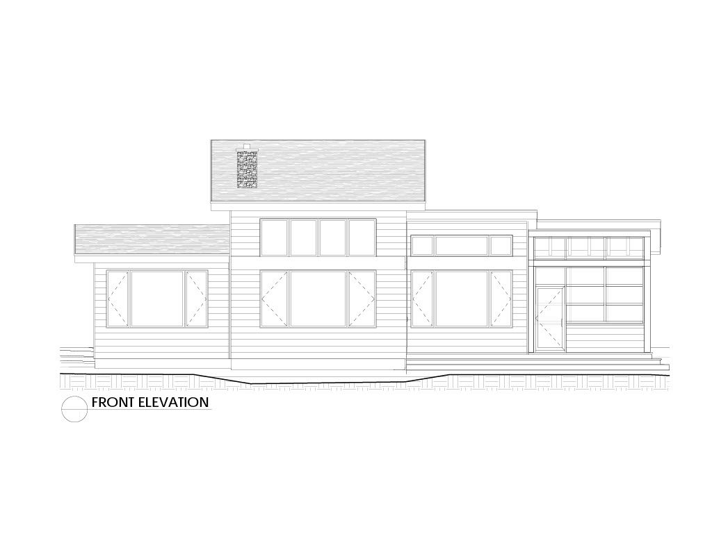 Normerica Timber Frames, House Plan, The Killarney 2134, Front Elevation