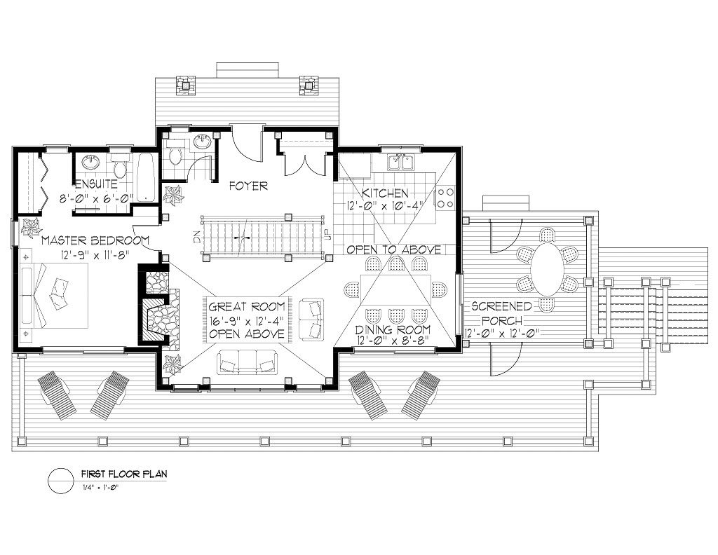 Normerica Timber Frames, House Plan, The Lanark 3522, First Floor Layout