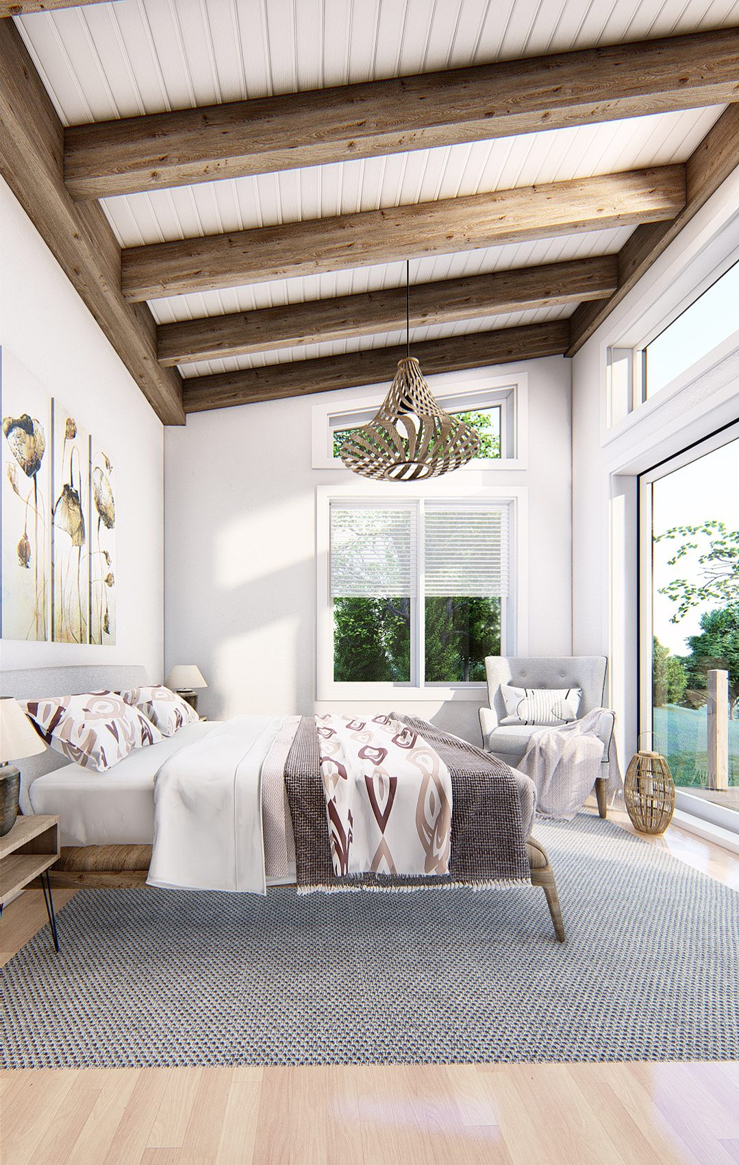 Normerica Timber Frames, House Plan, The Laurentian, Interior, Bedroom