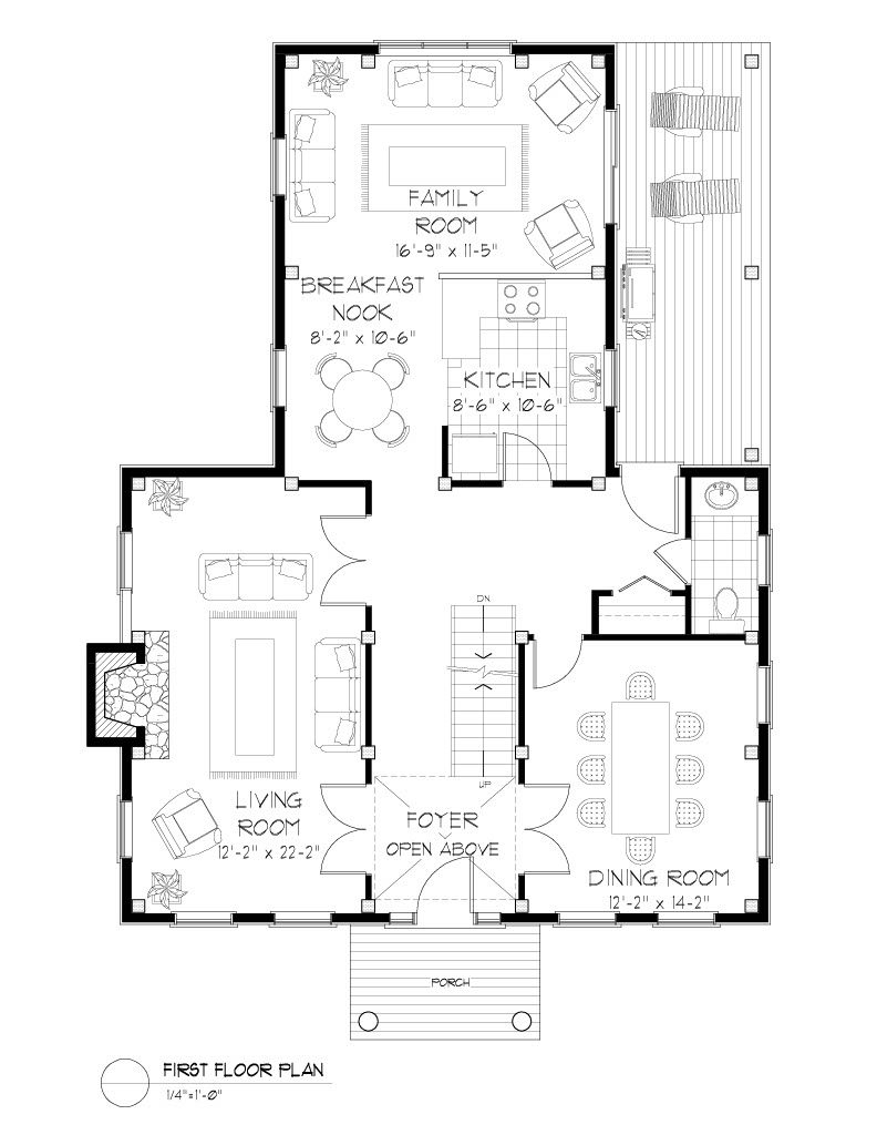 Normerica Timber Frames, House Plan, The Niagara 3539, First Floor Layout