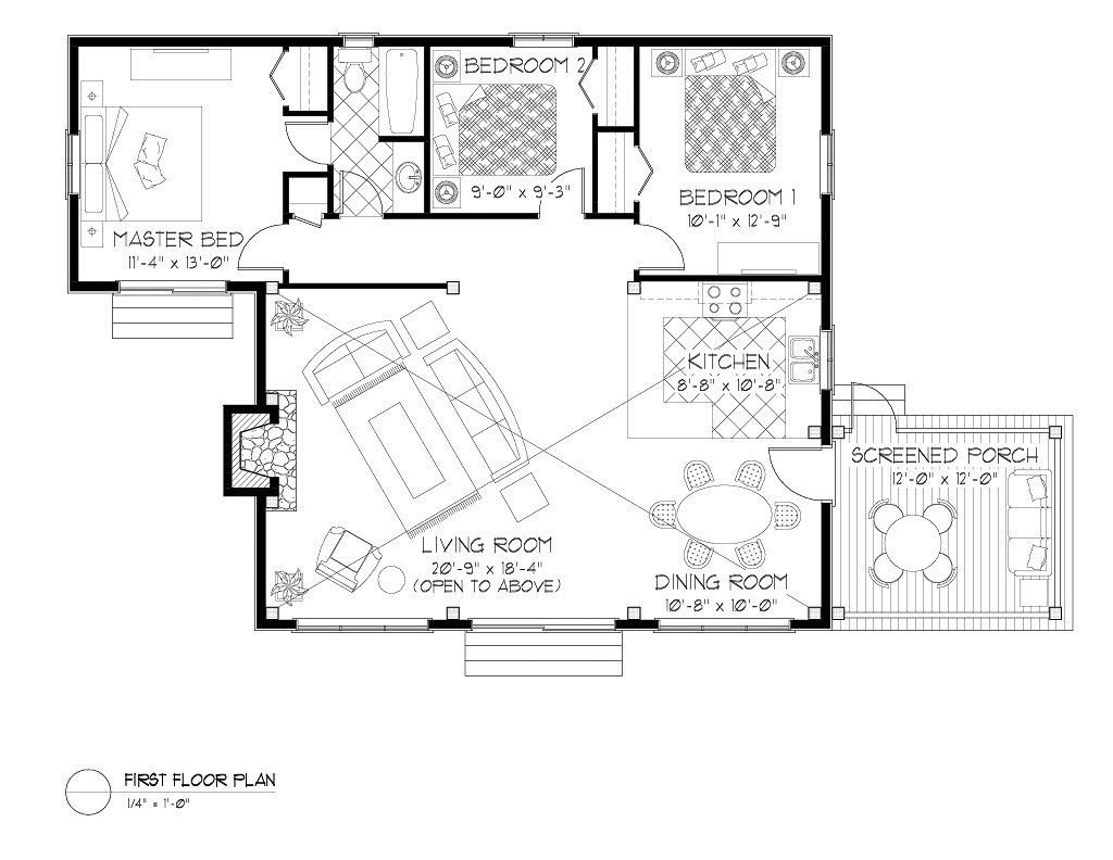 Normerica Timber Frames, House Plan, The Nipissing 3542, First Floor Layout