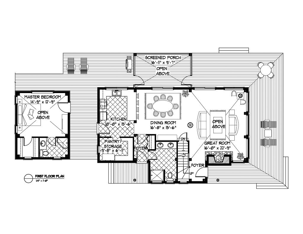 Normerica Timber Frames, House Plan, The Ranger 3575, First Floor Layout