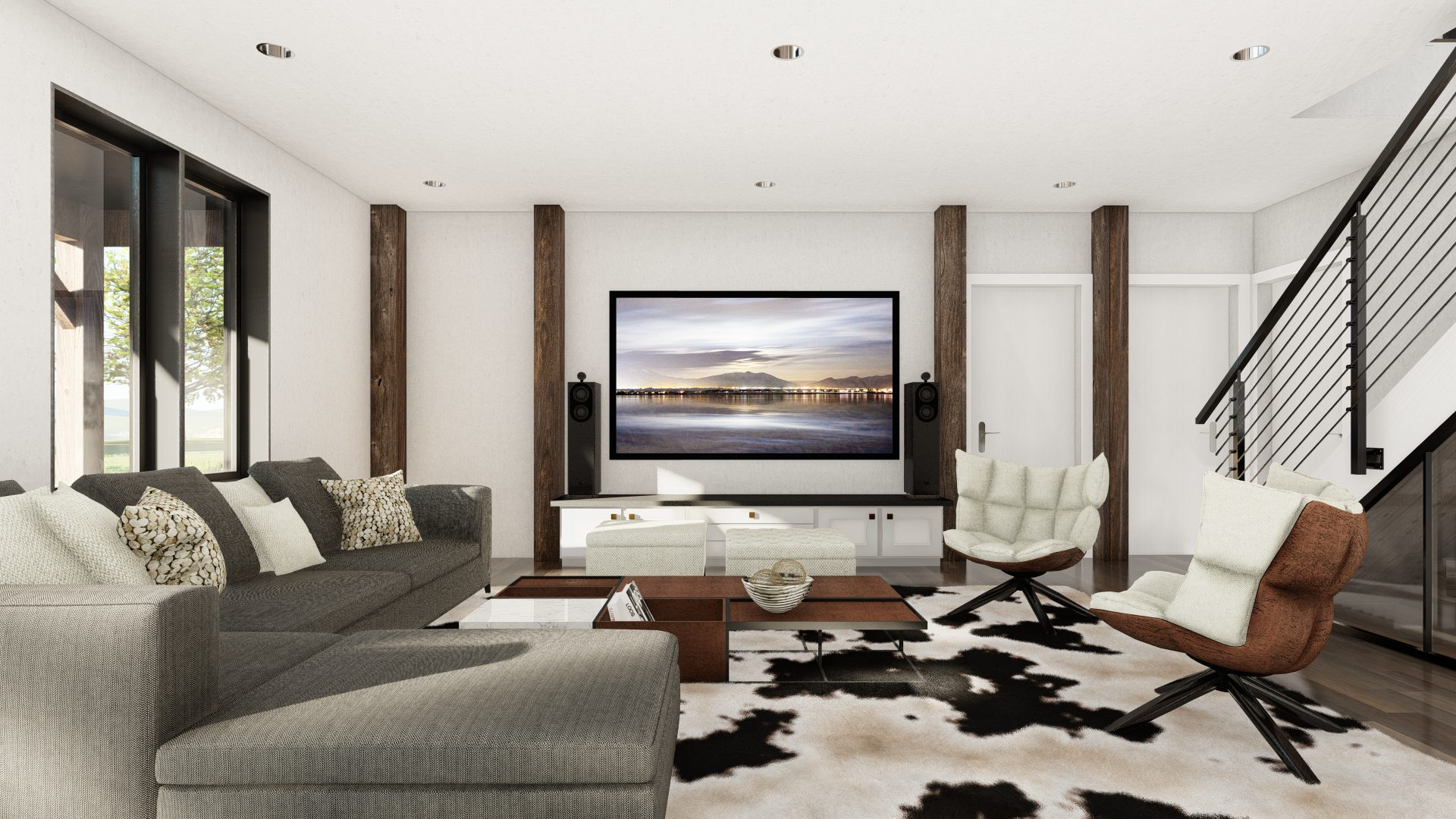 Normerica Timber Frames, House Plan, The Redstone 3920, Interior, Basement