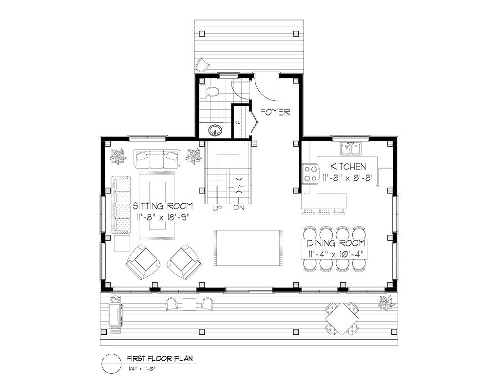 Normerica Timber Frames, House Plan, The Routt 3419, First Floor Layout