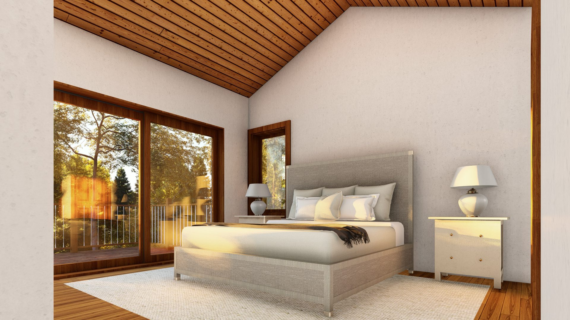Normerica Timber Frames, House Plans, The Tobermory 3949, Interior, Bedroom 2