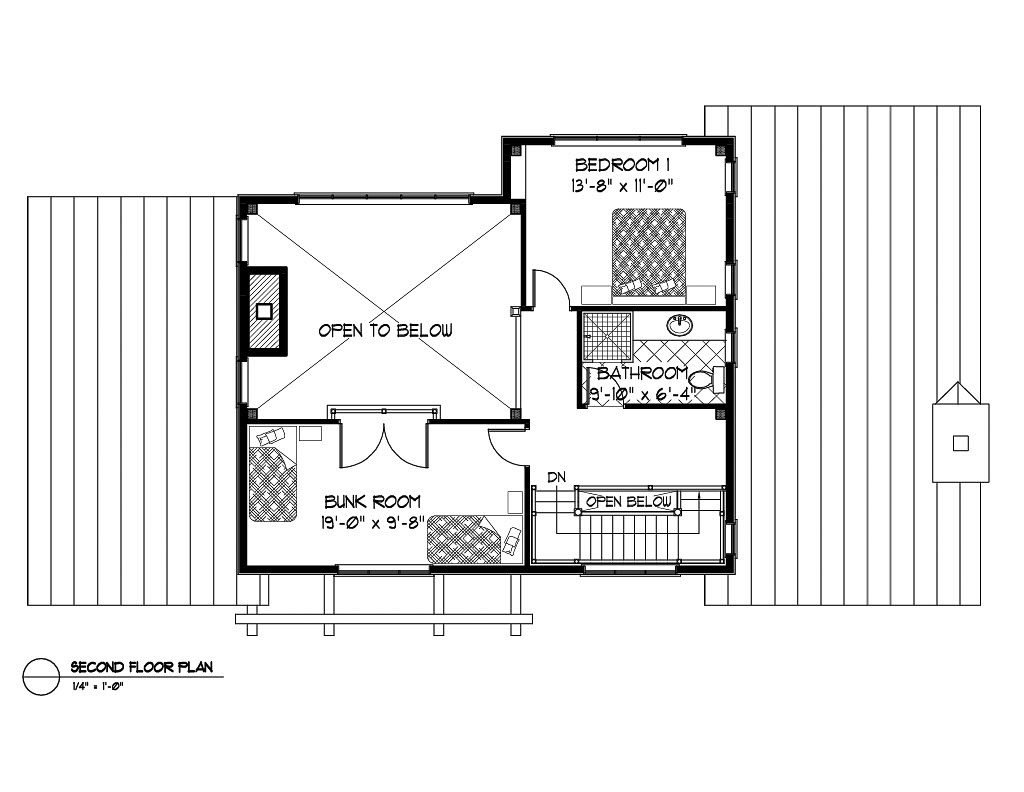 Normerica Timber Frame, House Plan, The Kershaw 3586, Second Floor Layout