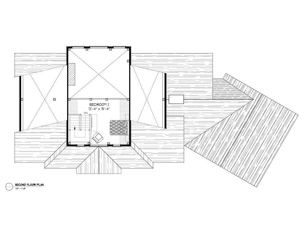 Normerica Timber Frames, House Plan, Algoma 3538, Second Floor Plan
