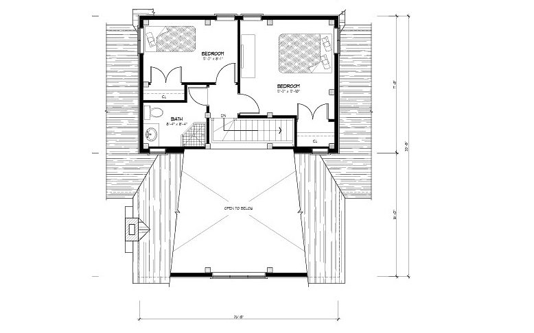 Normerica Timber Frames, House Plan, The Carleton 3115, Second Floor Layout