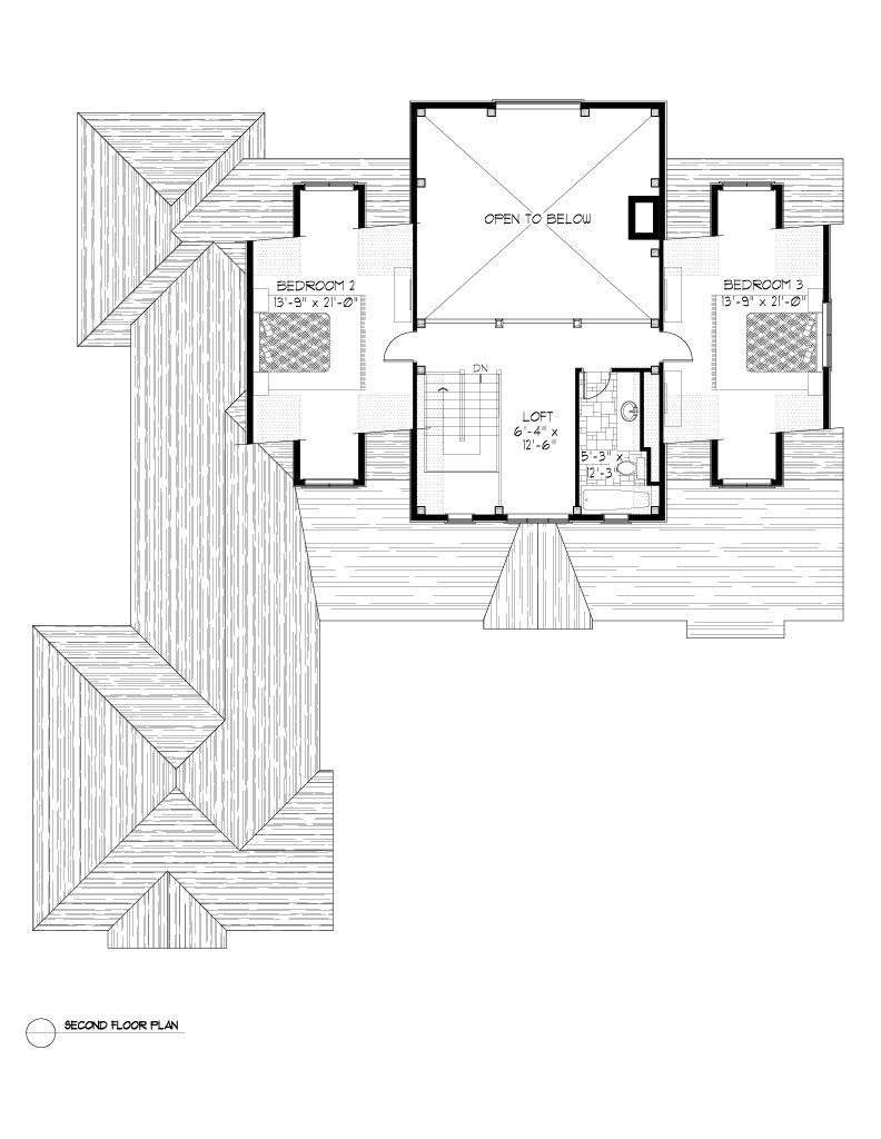 Normerica Timber Frames, House Plan, The Dufferin 2822, Second Floor Layout