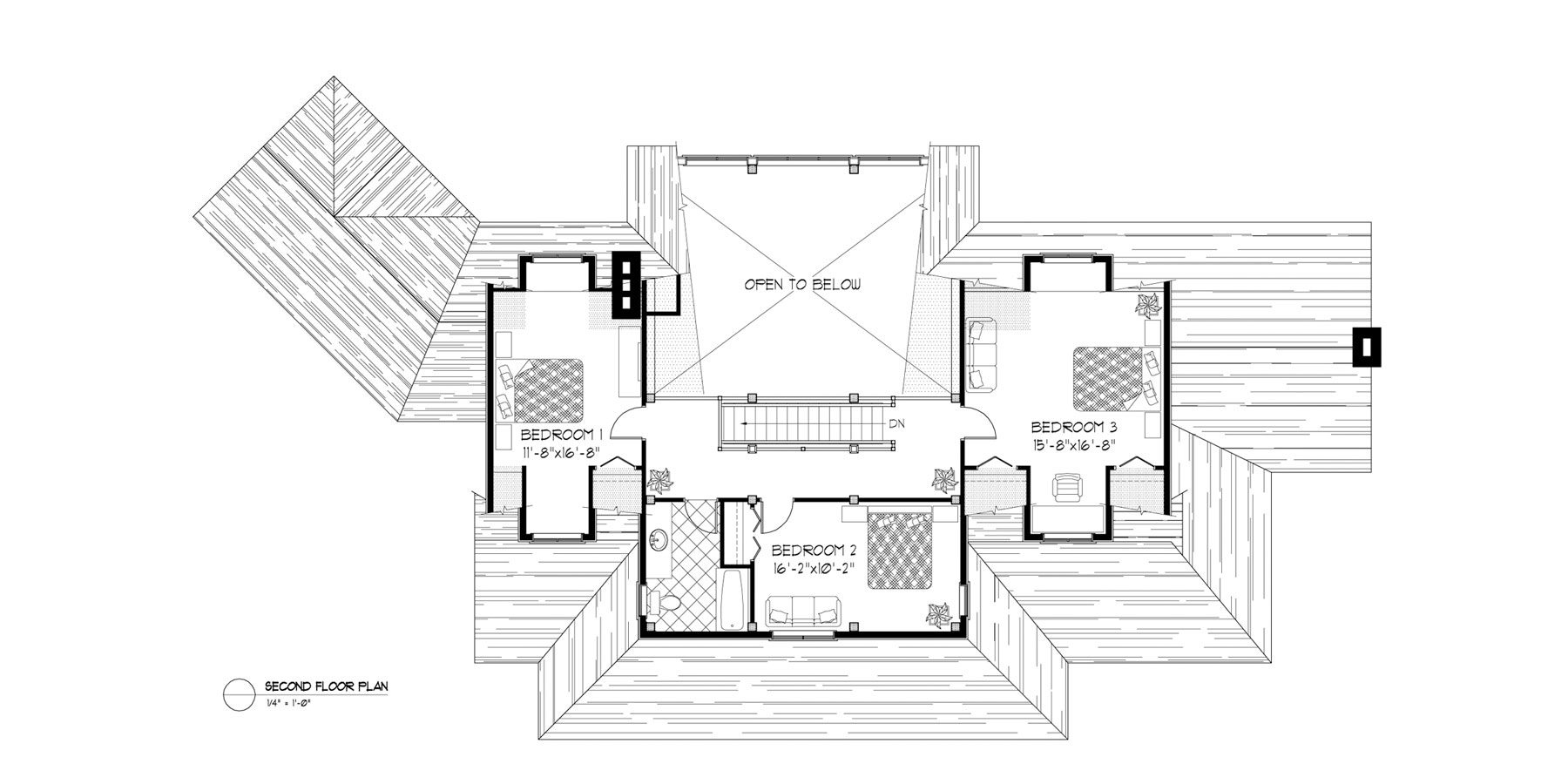 Normerica Timber Frames, House Plan, The Fremont 3582, Second Floor Layout