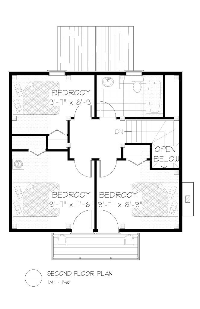Normerica Timber Frames, House Plan, The Jackson 3605, Second Floor Layout