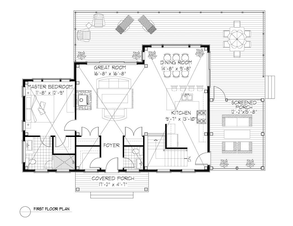 Normerica Timber Frames, House Plan, The Kershaw 3808, First Floor Layout