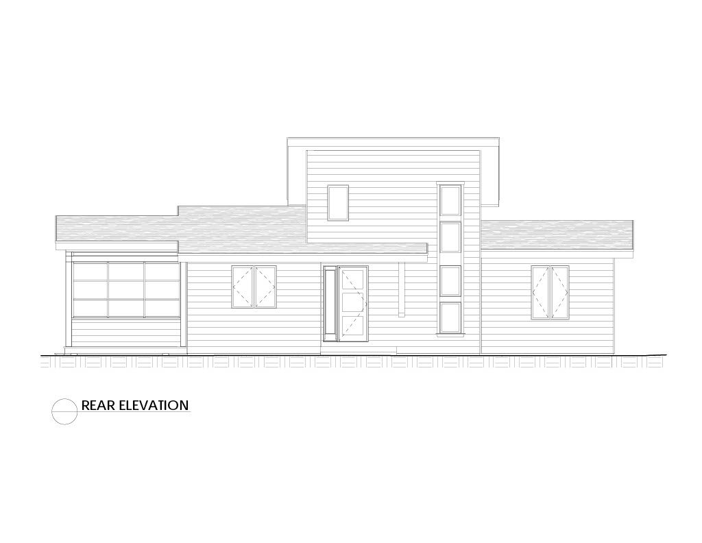 Normerica Timber Frames, House Plan, The Killarney 2134, Rear Elevation