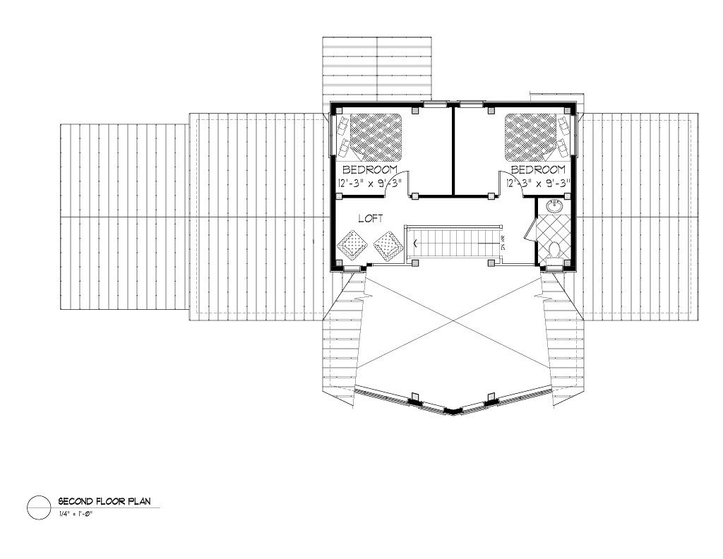 Normerica Timber Frames, House Plan, The Lennox 3546, Second Floor Layout